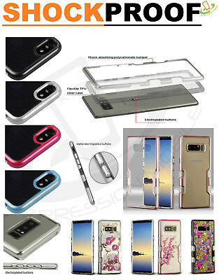 Samsung GALAXY Note 8 Transparent Clear Hybrid Protector Bumper Case Slim Cover