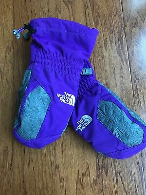 The North Face Hyvent mitten gloves sz youth junior Girls S/P  EUC !!