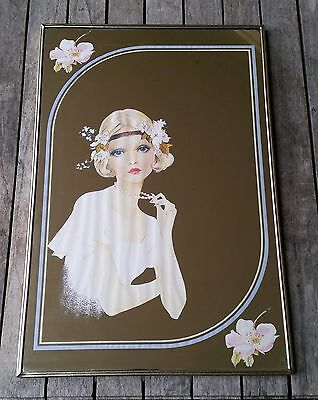Antique Vintage Retro Lady Image Decorative Mirror Wall Art Metal Frame 1 Of 2