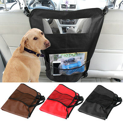 Car Front/Back Seat Barrier Block Pet Dog Travel Protection Guard Universal Fit