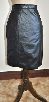 Vintage 80's MANERE Design Leather Skirt