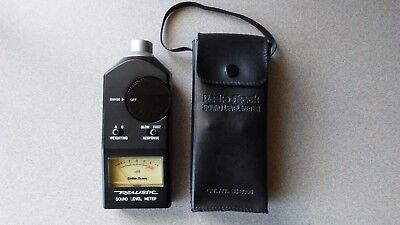 Realistic 22-2050 Sound Level Meter with Carry Case