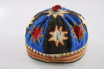 Early 20th Century CHINESE TRIBAL COLORFUL EMBROIDERED CHILD CAP HAT