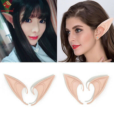 1 Pair Hobbit Latex Elf Ears Cosplay Party Props Creative Gift Halloween Costume