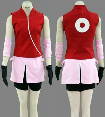 NARUTO Haruno Sakura Cosplay costume Kostüm manga cartoon Damen XL (EU M-L)