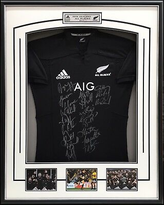 New Zealand Rugby All Blacks 2017 Squad Signed Jersey – Framed - With Coa