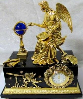 New Stunning Franklin Mint Rare Angel Of New Age Museum Clock