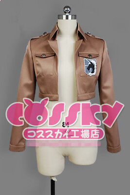 Attack on Titan Cosplay Jacke jacket Shingeki no Kyojin Eren Jäger Damen L(EU M)