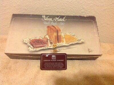 Stunning Vintage Silver Plated Toast Rack Set