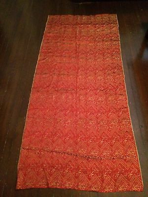 nice real islamic kaba textile pure silk embroidery on silk fabric red color