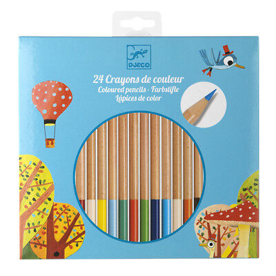 NEW Djeco Coloured Pencil Set 24pce