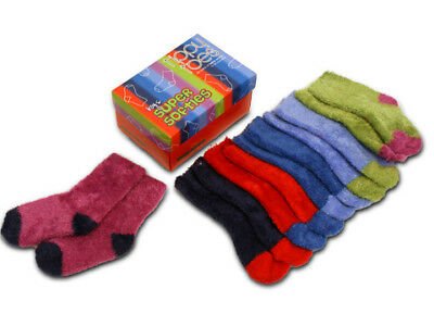 NEW Tippy Toes Super Softies Boys' Baby Sock Set 6pce