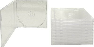 Standard Jewel CD/DVD Cases Clear 10 Pack Disk Storage Single Set Transparent