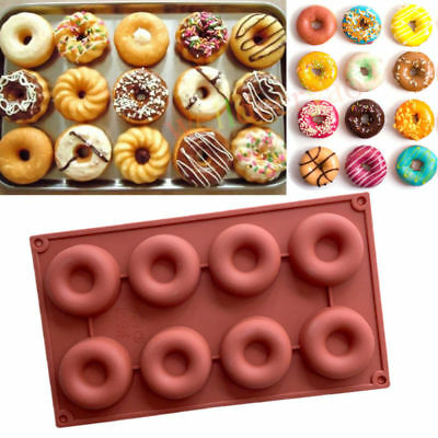 Silicone Donut Doughnut Chocolate Muffin Pan Maker Soap Cake Mold Baking Mould