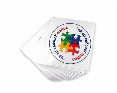 Autism Touches Us All- Autism Awareness Car Window Decal