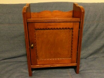 Small Early 20th Century Wooden Wall Cabinet