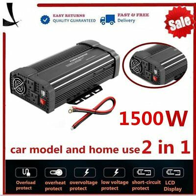 Digital 3000W Car Power Inverter DC 12V to AC 110V Converter With 2 USB Ports O7