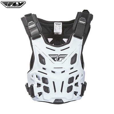 New Fly 'revel' Adult Body Armour Chest Protector White Mx Motocross Roost Guard