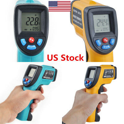 US Non-Contact IR Laser Point Digital Infrared Thermometer Temp Temperature Gun
