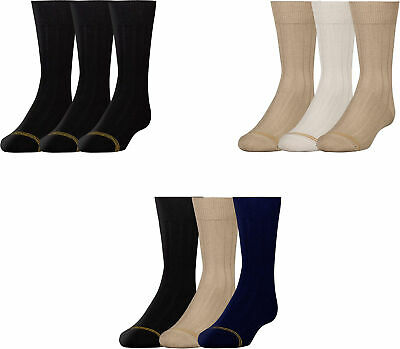 Gold Toe Boys' Cotton Crew Socks, Assorted Colors, 3 Pairs