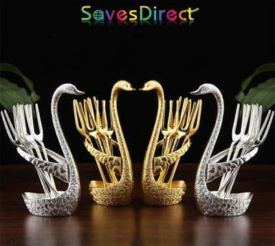 Brand New High Quality Swan Stainless Steel Cutlery Sets Gold & Silver Premium