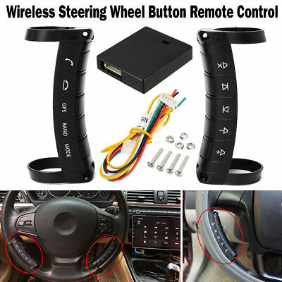 Universal Steering Wheel Remote Control Wireless Bluetooth Media Button