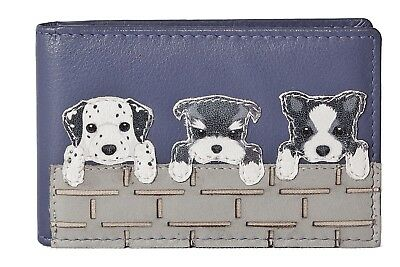 Cute Dogs Card /& ID holder by Mala Leather ID 631 65 gift dustbag dalmation