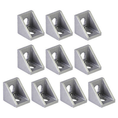 10x Aluminum L Shaped 90 Degree Brace Corner Joint Right Angle Bracket 20x20mm