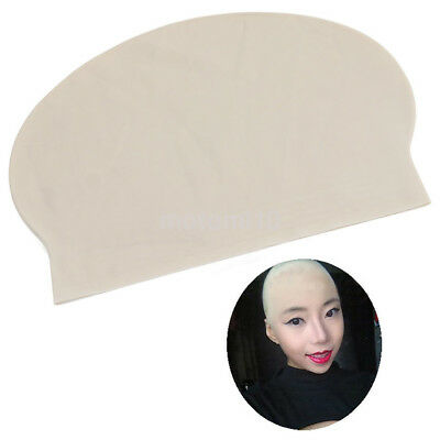 Durable Latex Fake Skin Bald Head Cap Swimming Cap Hat Costume Prank Props UK