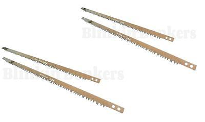 """4 Spare Sharp Replacement Blades For 30"""" Tree Wood Branch Log Bow Saw Pruning 36"""