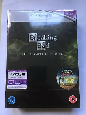 Breaking Bad: The Complete Series 1-5 + Final season DVD Box Set NEW AND SEALED