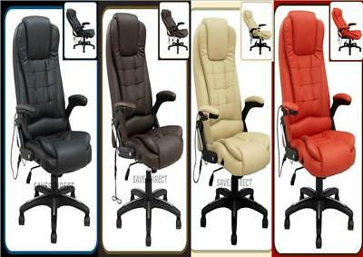Luxury Leather Computer Study Reclining Office Chair with 6 Mode Massage K8901A
