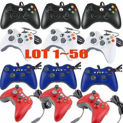 LOT 50Pcs Wired USB Game Pad Controller For Microsoft Xbox 360 PC Windows MX