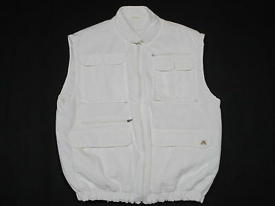 Body Warmer Weste Vest Veste Outdoor Winter Ski Snowboard Vintage Weiß White  L