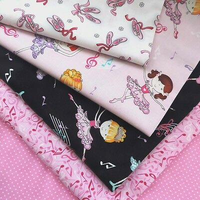 Quilt Bellarina Fabric Collection by Studioe Tutu Ballet Music 100% Cotton