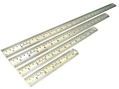 Steel Rule Steel Ruler Metal Ruler with Conversions Yard Stick Rule Inches MM CM