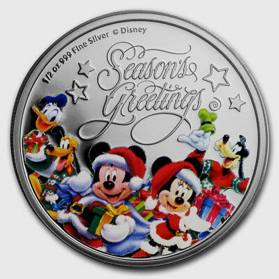 Disney Silver Coin - Season's Greetings 2017!!!! New Release
