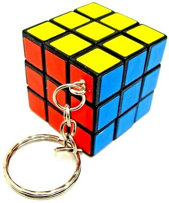 Rubiks Cube Key Ring Rubix Cube Keyring Magic Cube Square Mind Game Puzzle New