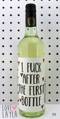 Wine Label First Bottle/Comedy/Novelty/Funny/Humour/Love Layla/#AT