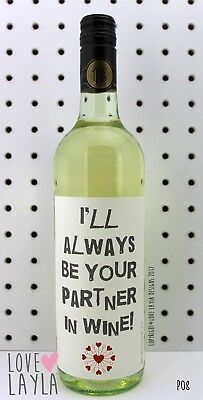 Wine Label Partner in Wine/Comedy/Novelty/Funny/Humour/Love Layla/#AH