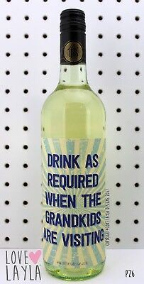 Wine Label Grandkids/Comedy/Novelty/Funny/Humour/Love Layla/#BH