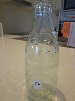 Glass Milk Bottle From New Zealand Last Used About The Mid 1960's.
