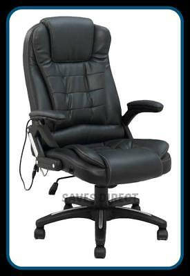 Luxury Leather Reclining Office Chair with 8 Mode Massage Unique Design k8901A