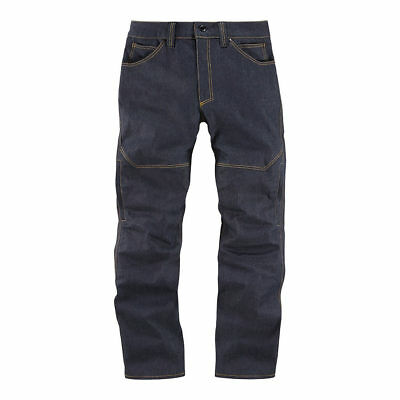 Icon Akromont Aramid Denim Motorcycle Motorbike Trousers Jeans | All Sizes
