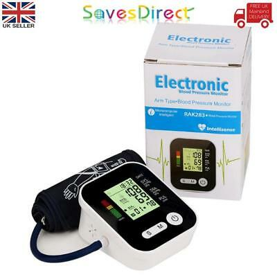 Portable Digital Automatic Blood Pressure Monitor Clever Intellisense Memory