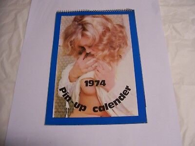 Calendario Pin - Up Anno 1974 Con 12 Splendide Modelle