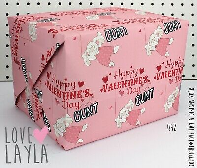 Wrapping Paper/valentine cunt/valentines day/funny wrap/Love Layla Australia/Q42
