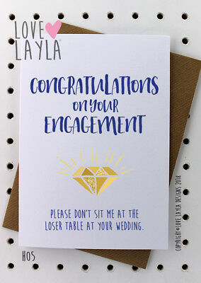 Greeting Card /Engagement Card /Comedy /Funny /Humour /Love Layla Australia /H05