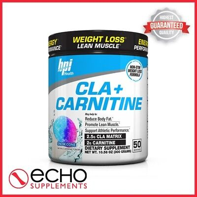 BPI CLA + Carnitine (300g / 50 Servings) - FREE FAST DELIVERY!