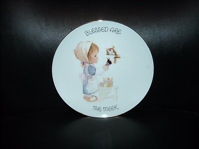 "Vintage 1985 Enesco Precious Moments ""blessed Are The Meek"" 7"" Collectible Plate"